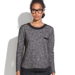 MADEWELL Wool Marled Contrast Sweater 08539 XS